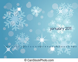 Calendar for January 2011