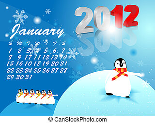 Calendar for January 2012