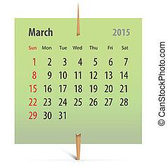 Calendar for March 2014