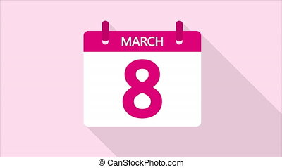 calendar for March 8 - Calendar for March 8, art video ...