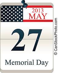 Calendar for Memorial Day