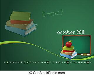 Calendar for October 2011