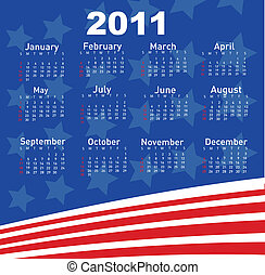 Calendar for Year 2011