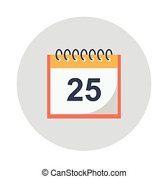 calendar glyphs color circle icon
