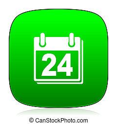 calendar green icon