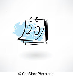 calendar grunge icon