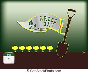 Happy Arbor Day - Calendar holiday of April - Happy Arbor...