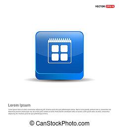 calendar icon - 3d Blue Button