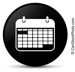 Calendar icon black round button