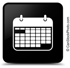 Calendar icon black square button