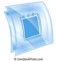 Calendar icon blue, isolated on white background.