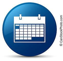 Calendar icon blue round button