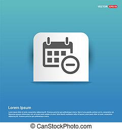 Calendar Icon - Blue Sticker button