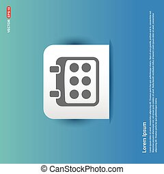 Calendar Icon - Blue Sticker button