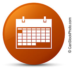 Calendar icon brown round button