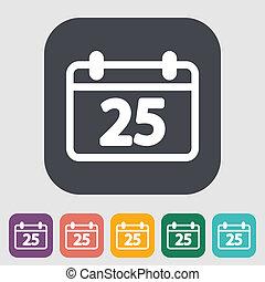 Calendar icon - Calendar. Single flat icon on the button....