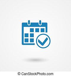 calendar icon - vector marks calendar icon on white...