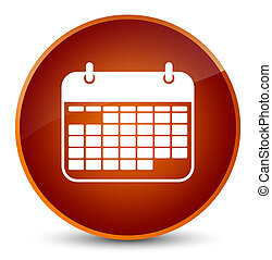Calendar icon elegant brown round button