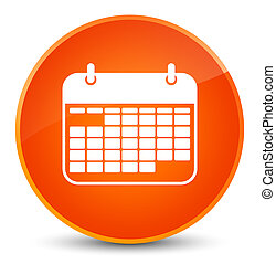 Calendar icon elegant orange round button