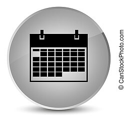 Calendar icon elegant white round button