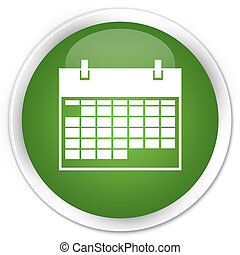 Calendar icon green button