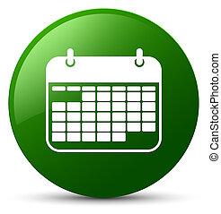 Calendar icon green round button