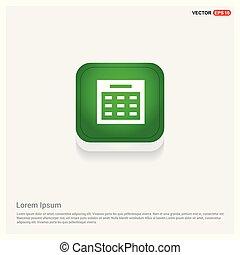 calendar icon Green Web Button