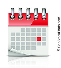 Calendar icon - illustration of detailed beautiful calendar...