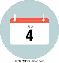 Calendar icon in circle, vector eps10 illustration