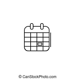 calendar icon in line art style. Vector illustration esp 10