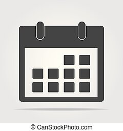Calendar Icon in trendy flat style isolated on grey background. Calendar symbol for your web site design, logo, app, UI. Vector illustration, EPS10.