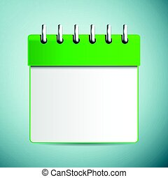 Calendar icon isolated on blue background. Vector Illustration