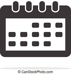 Calendar Icon Isolated on white background ,Flat style.