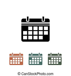 calendar icon isolated on white background