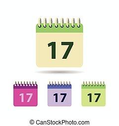Calendar icon. isolated on white background