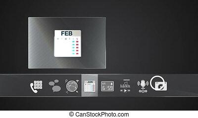 Calendar icon mobile application - Icon for mobile...
