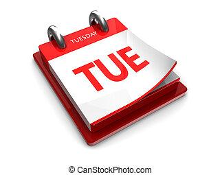 calendar icon of Tuesday