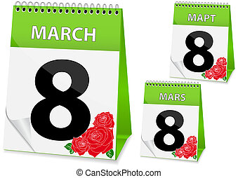 Calendar icon on March 8