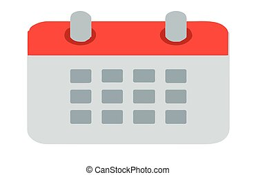calendar icon on white background