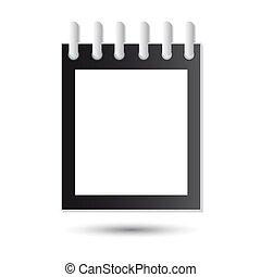 Calendar icon on white background. Vector illustration for your design.