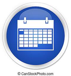 Calendar icon premium blue round button