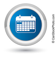 Calendar icon prime blue round button