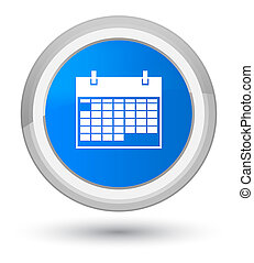 Calendar icon prime cyan blue round button