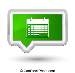 Calendar icon prime green banner button