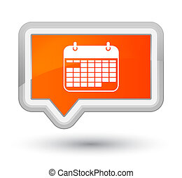 Calendar icon prime orange banner button