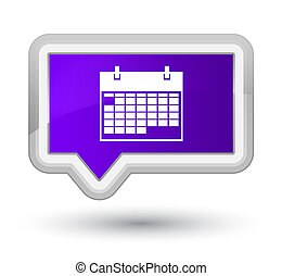 Calendar icon prime purple banner button