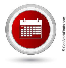 Calendar icon prime red round button