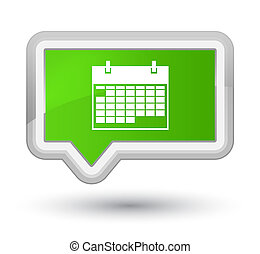 Calendar icon prime soft green banner button