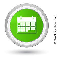 Calendar icon prime soft green round button