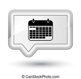 Calendar icon prime white banner button